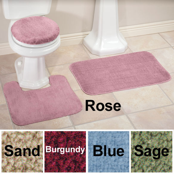 Toilet Seat Cover And Rug Set