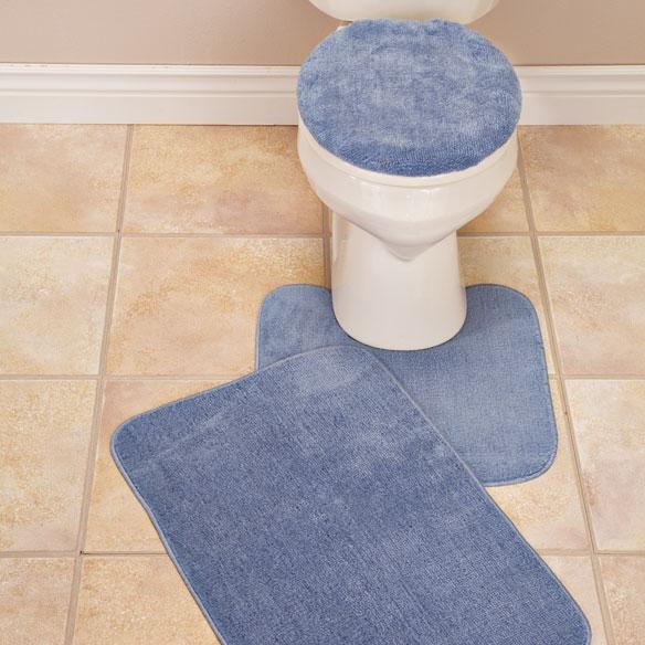 Plush Bath Rug Set Toilet Seat Cover And Rug Set Miles