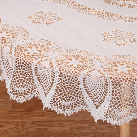 Vinyl Lace Tablecloth Vinyl Tablecloth Miles Kimball