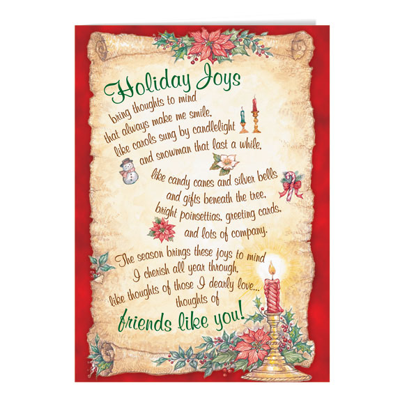Holiday Joys Non Personalized Christmas Card Set Of 20