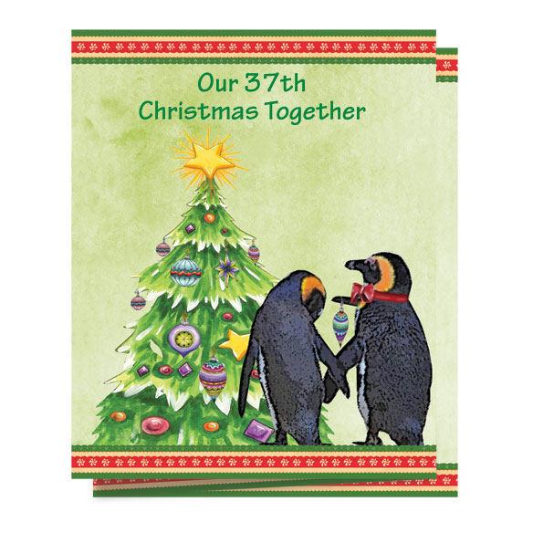 Our Years Together Personalized Christmas Card