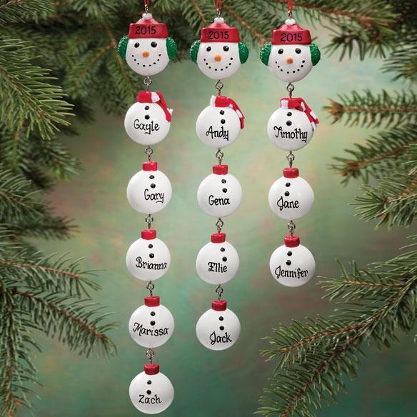 Snowman family ornament snowman christmas ornament for Family christmas ornaments to make
