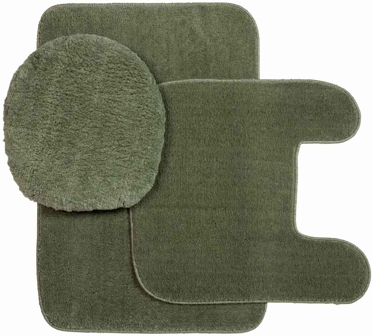 Plush Bathroom Rug Sets: Plush Rug And Lid 3 Pc Bath Set