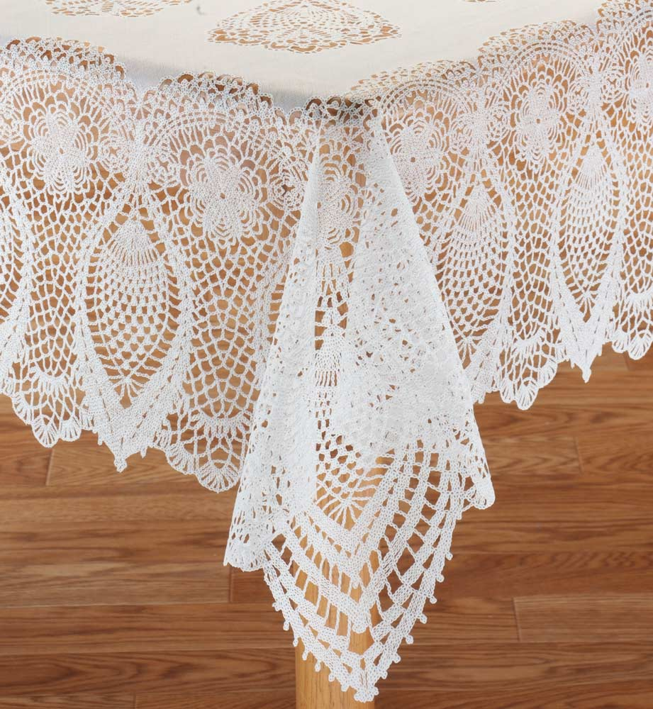 Miles Kimball White Vinyl Lace Tablecloth 54 Quot X 72