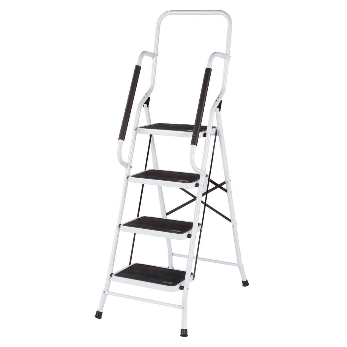 Folding Four Step Ladder With Handrails By Livingsuretm Xl