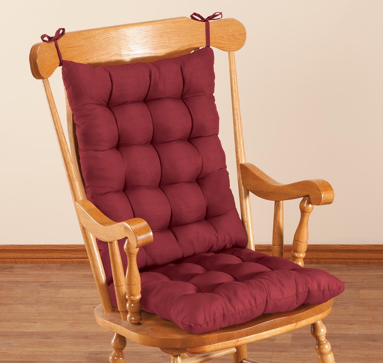 Rocking Chair Pads ~ Microfiber rocking chair cushion set by oakridgetm ebay