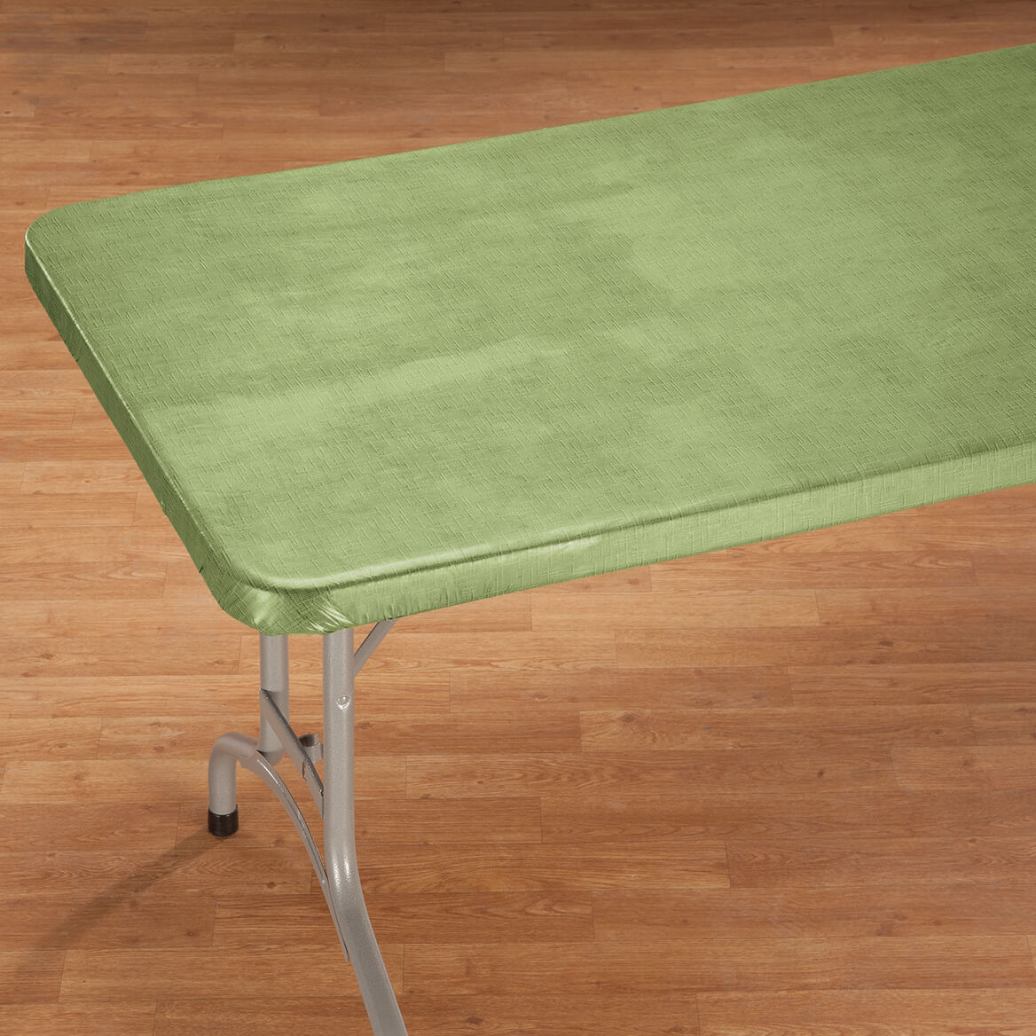 Illusion Weave Vinyl Elasticized Banquet Table Cover By
