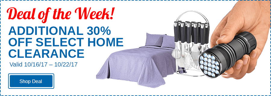 Additional 30% Off Select Home Clearance!