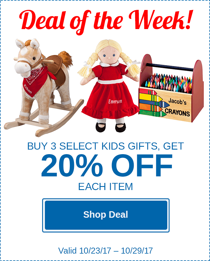 Buy 3 Kids Gifts, Get 20% Off Each!