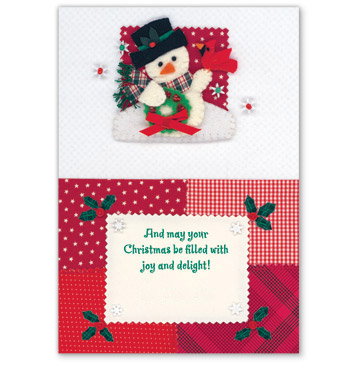 Calico Snowman Card Set - View 3