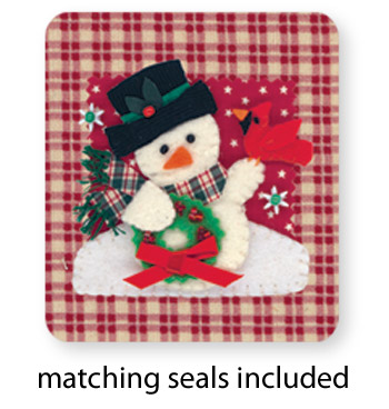 Calico Snowman Card Set - View 4
