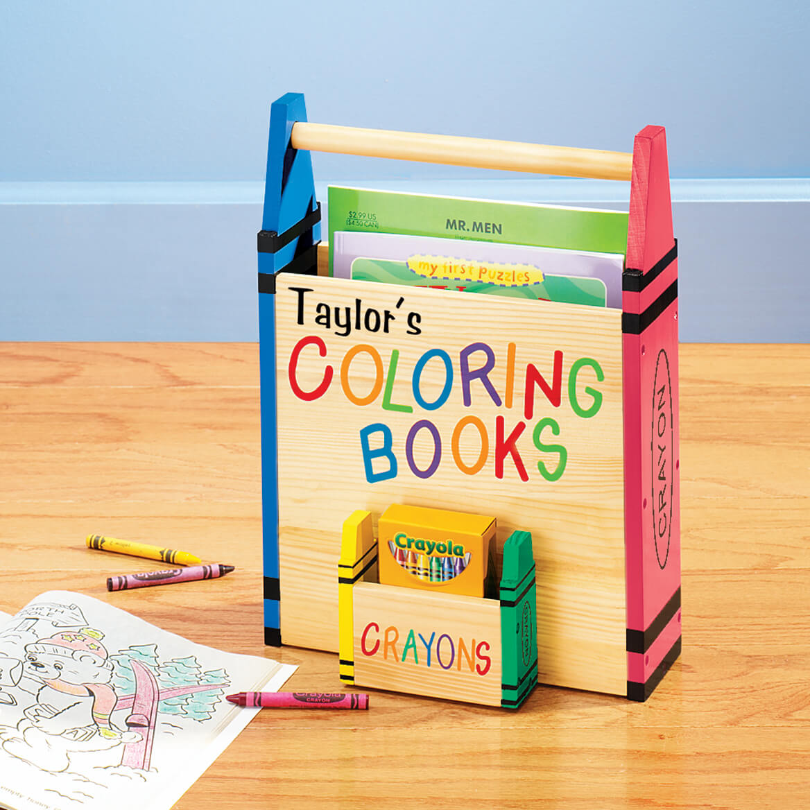 Personalized Coloring Book Holder 315567