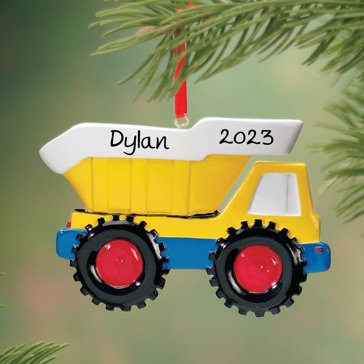 personalized dump truck ornament dump truck ornament miles kimball