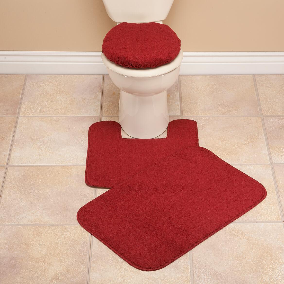 Plush Bathroom Rugs Plush Bath Rug Set Toilet Seat Cover And Rug Set Miles Kimball