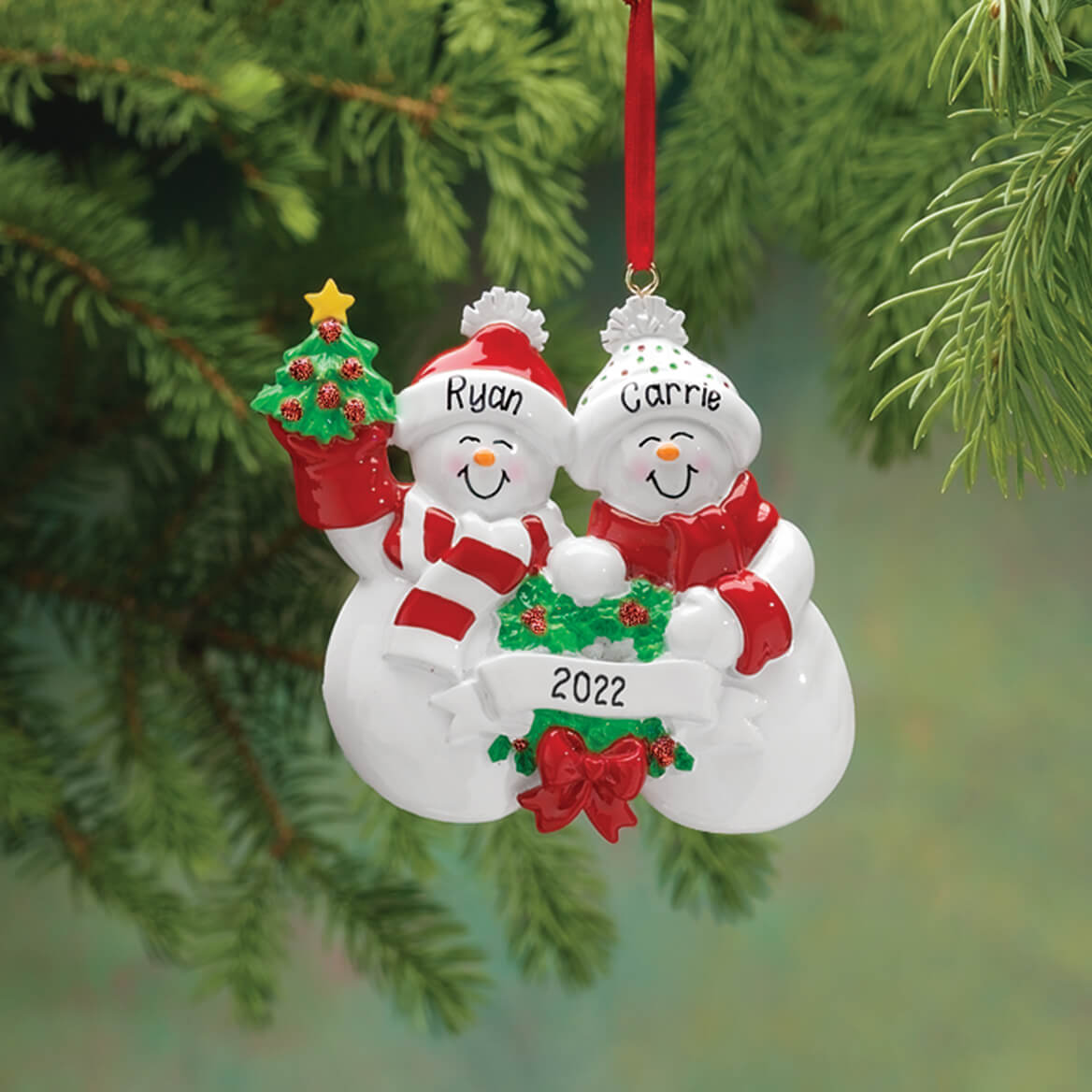 Personalized Snow Family Ornament 326947
