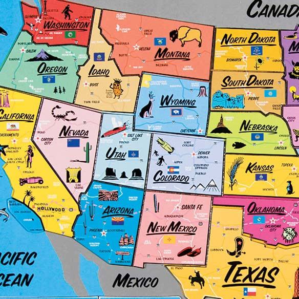USA Magnetic Puzzle Map USA Map Puzzle Miles Kimball - Magnetic map of us
