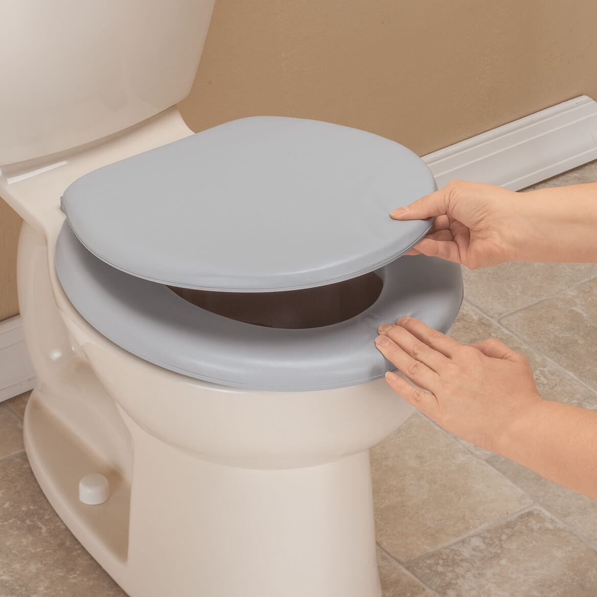 Padded Toilet Seat And Lid Cushioned Toilet Seat Miles Kimball