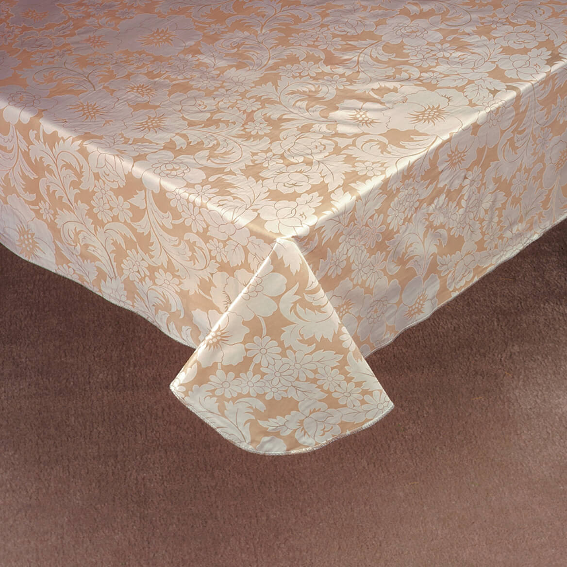 Bordeaux Floral Vinyl Table Cover 344552
