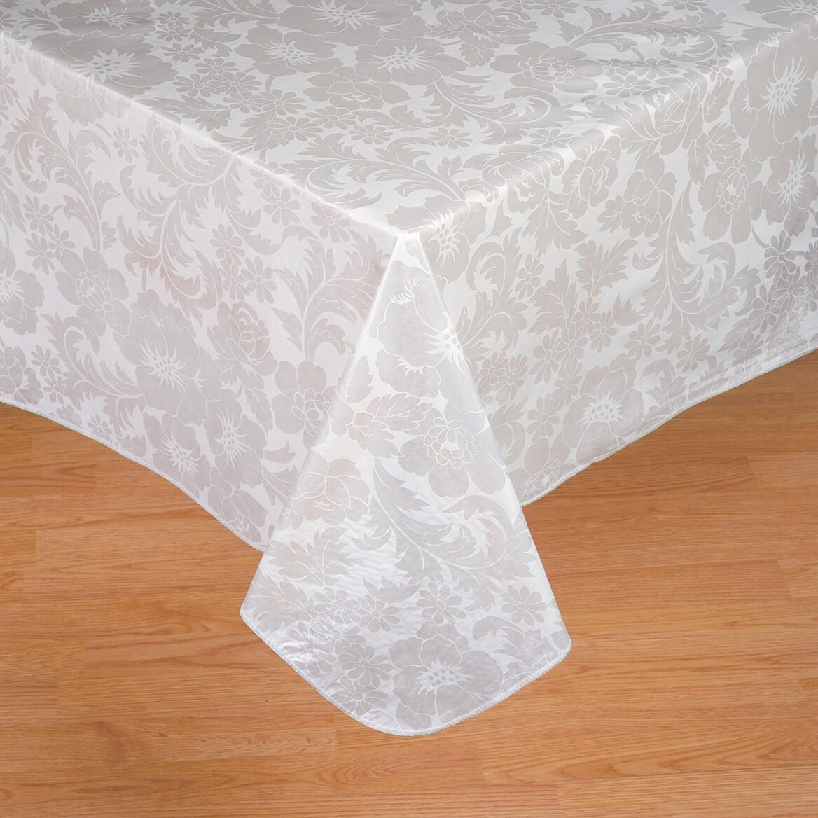 bordeaux floral vinyl table cover