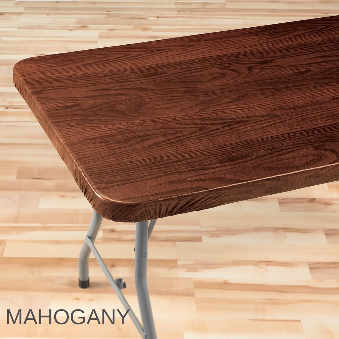 wood grain elasticized table cover  wood table cover  miles kimball - wood grain elasticized table cover
