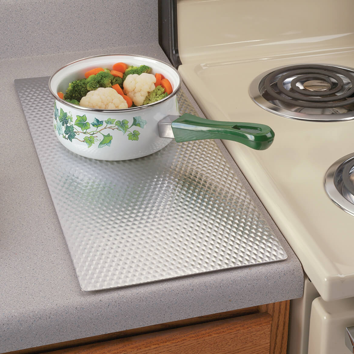 ... Insulated Kitchen Countertop Protector On Kitchen Stove Protectors, Kitchen  Counter Guards, Kitchen Island Protectors ...