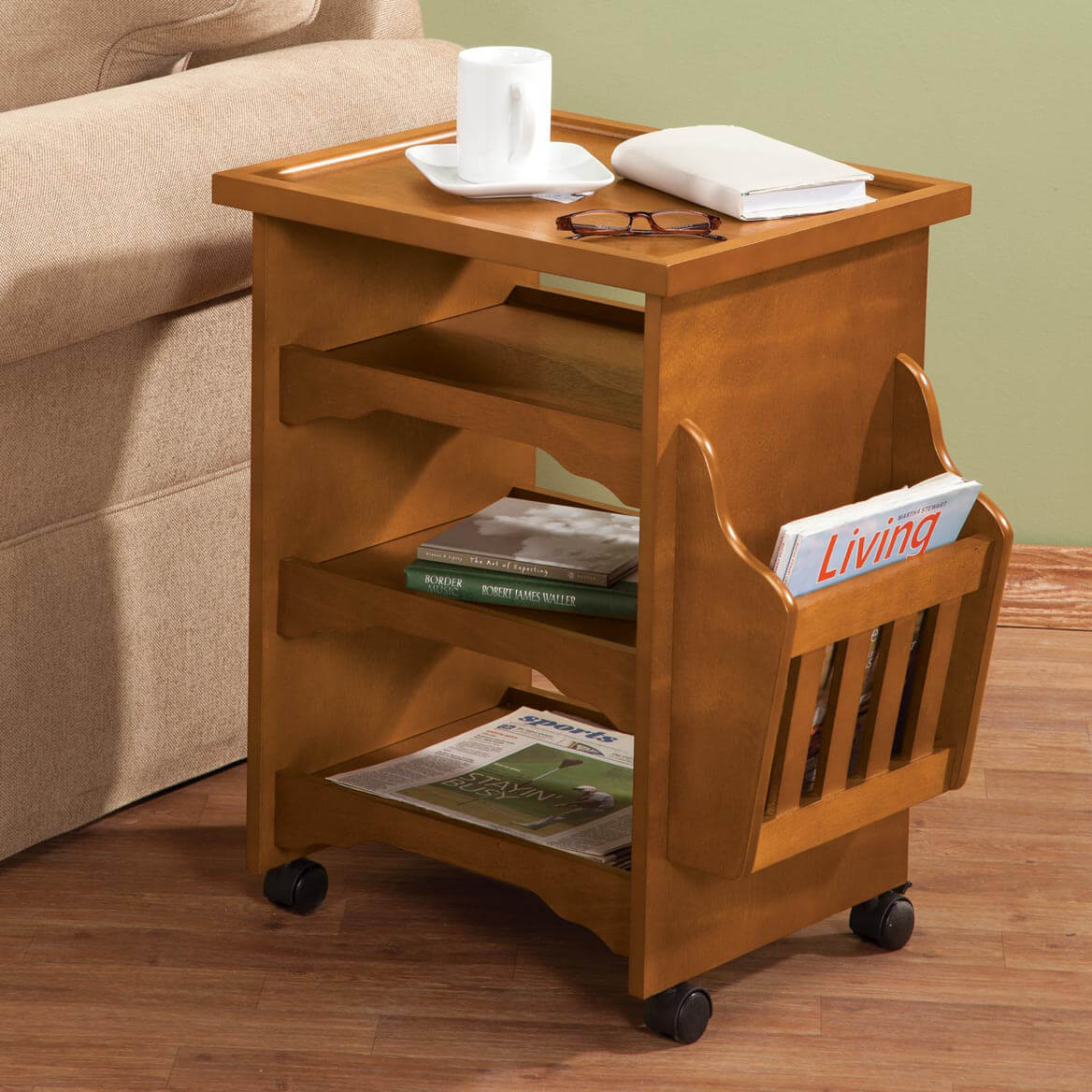 Captivating Deluxe Rolling Multipurpose Table By OakRidge™ Accents