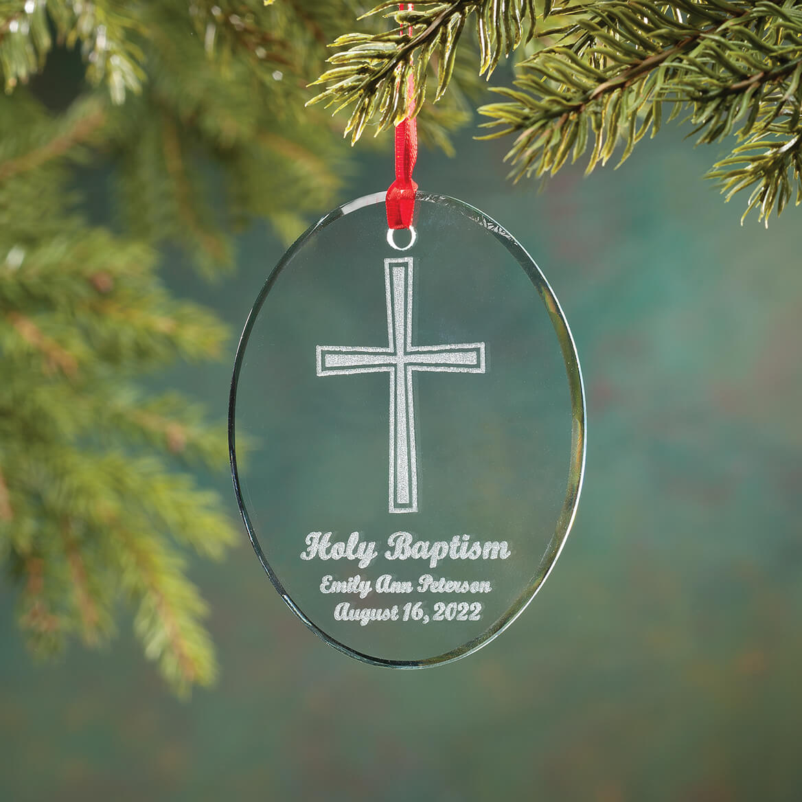 Baptism Ornament Personalized Christmas Ornament Christening: Personalized Glass Baptism Ornament