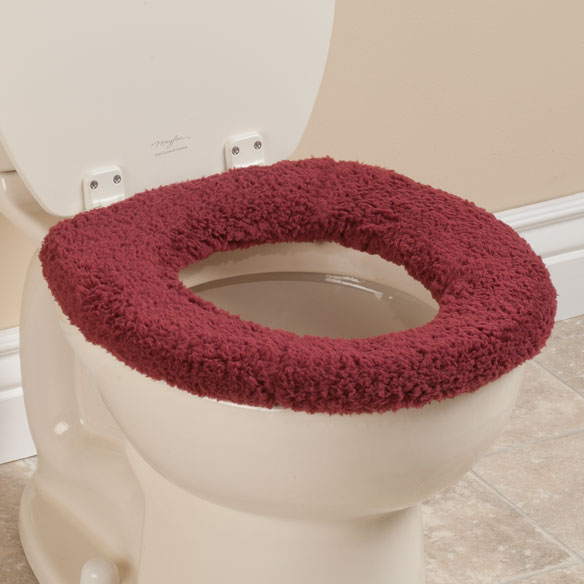 cushioned toilet seat covers. Sherpa Toilet Seat Cover  Cushioned Miles Kimball Surprising Red Elongated Contemporary Best