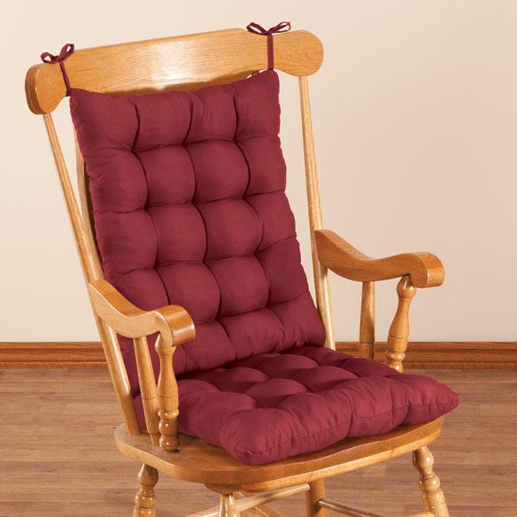 microfiber rocking chair cushion set by oakridge comforts - Rocking Chair Cushion Sets