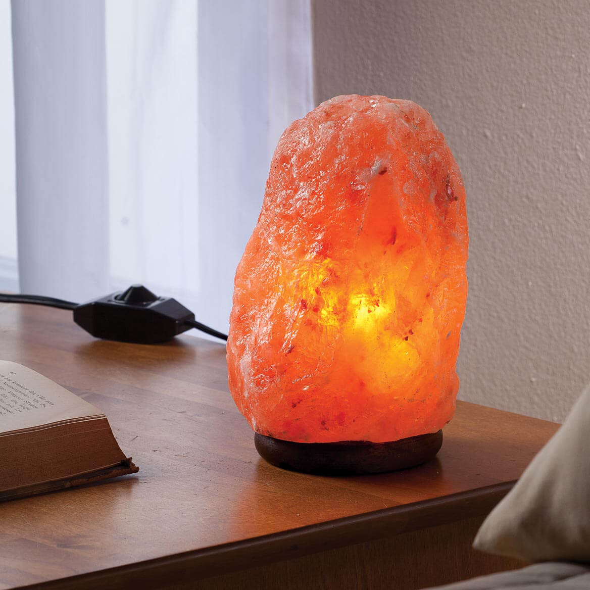 Salt Rock Lamp Debunked : Himalayan Salt Light with Dimmer - Salt Rock Lamp - Miles Kimball