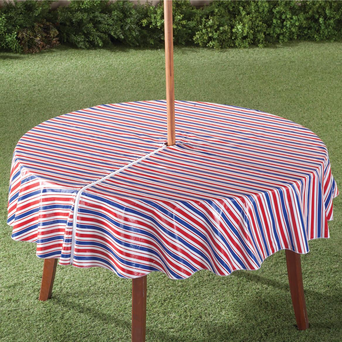 Patio Umbrella Covers With Zipper: Patriotic Zippered Umbrella Table Cover