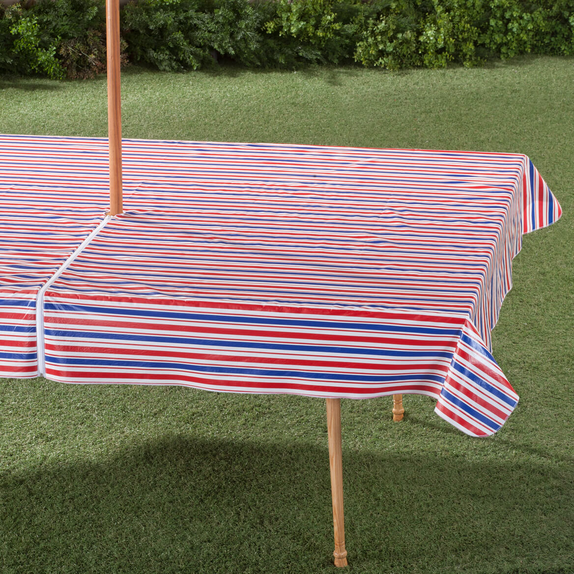 Patio Umbrella Covers With Zipper: Patriotic Zippered Umbrella Table Cover
