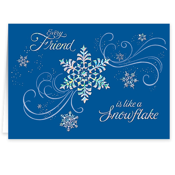 Personalized Snowflake Christmas Cards - Set of 20 - View 2