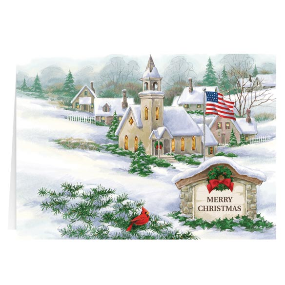 God Bless America Christmas Card Set of 20 - View 2