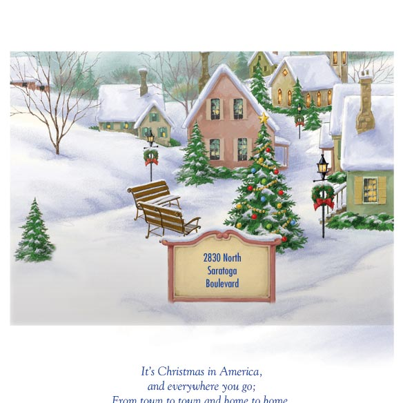 God Bless America Christmas Card Set of 20 - View 3
