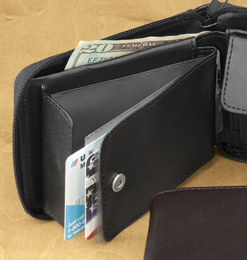 Leather Zipper Wallet - View 2
