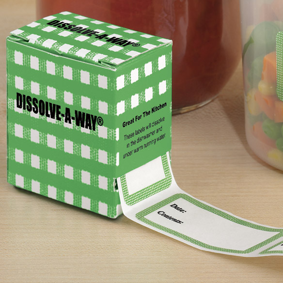 Dissolve-A-Way® Food Labels - View 2
