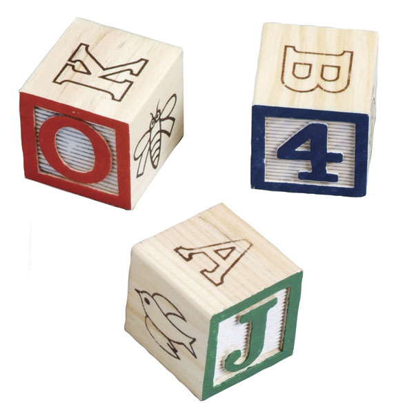 Wooden Alphabet Blocks With Personalized Cart - View 3