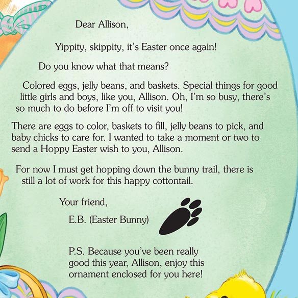 Letter And Gift From The Easter Bunny - View 2
