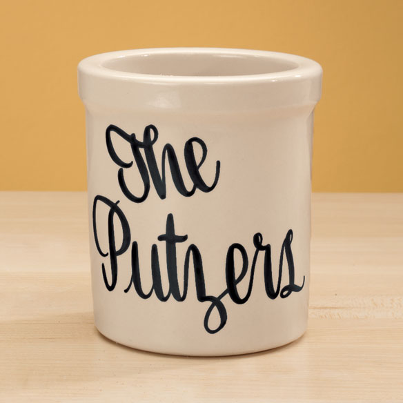 Personalized Stoneware Crock - 1 Qt. - View 3