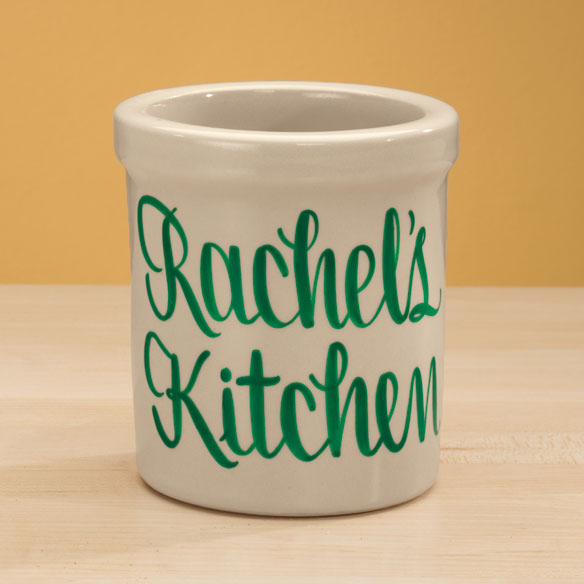 Personalized Stoneware Crock - View 4
