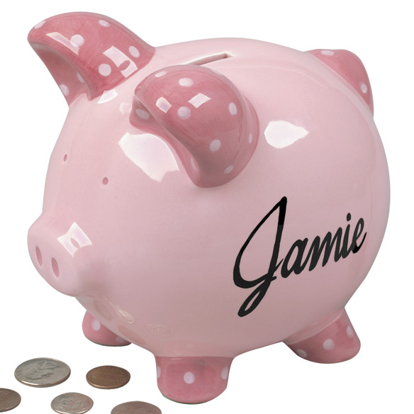 Personalized Kids Piggy Bank - View 3