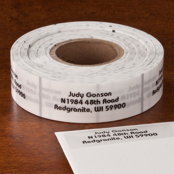 Clear Address Labels Roll - Roll of 500 - View 2