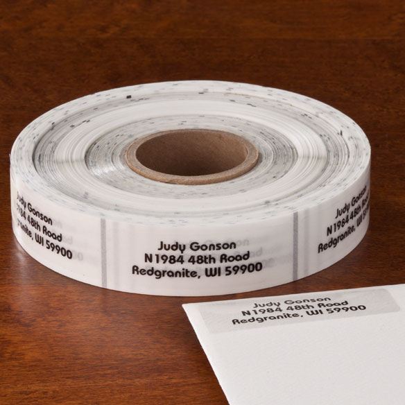 Clear Address Labels - Roll of 1000 - View 2