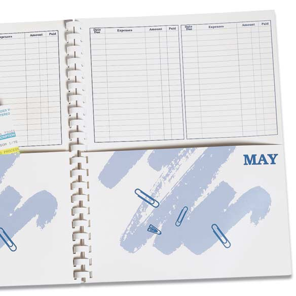 Whats Due Bill Organizer Book - View 3