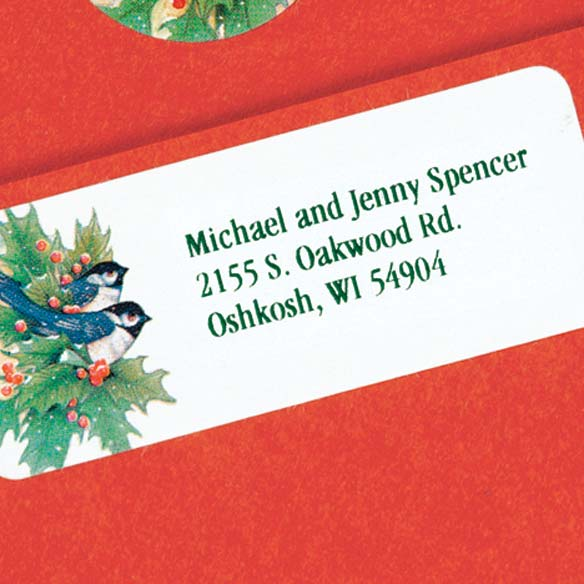 Winter Chickadee Address Labels And Seals Set - View 3