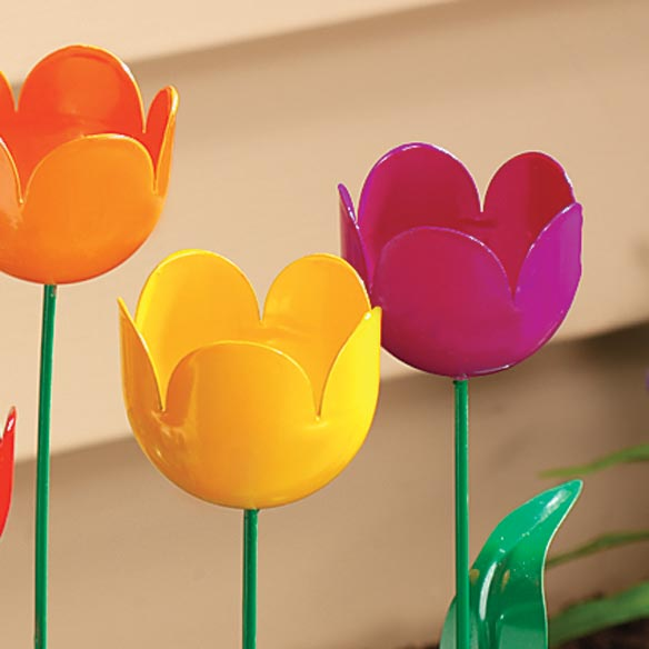 Artificial Tulips - Set Of 5 - View 3