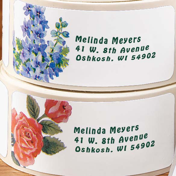 Floral Address Labels & Seals - 250 - View 3