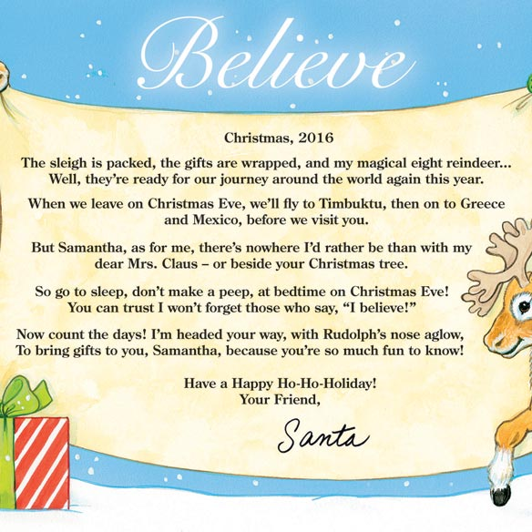 Personalized Letter From Santa To Child - View 2