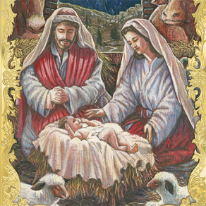 Holy Family Personalized Embossed Christmas Cards - Set Of 20 - View 4